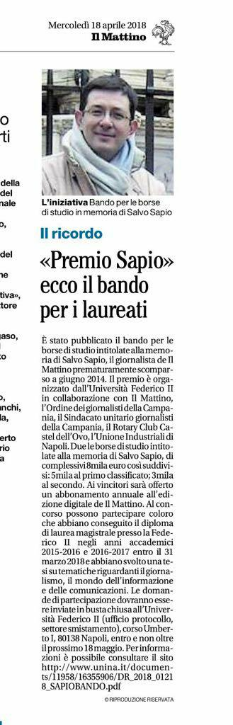 Il_Mattino_Premio_Sapio