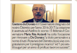 Gaetano de Donato - Governatore