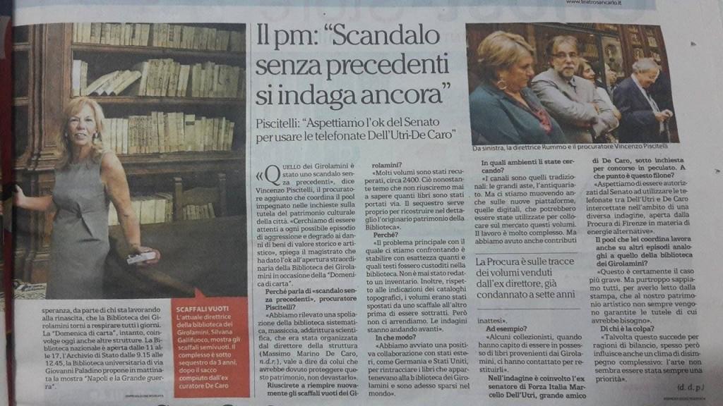 Articolo Repubblica Girolamini
