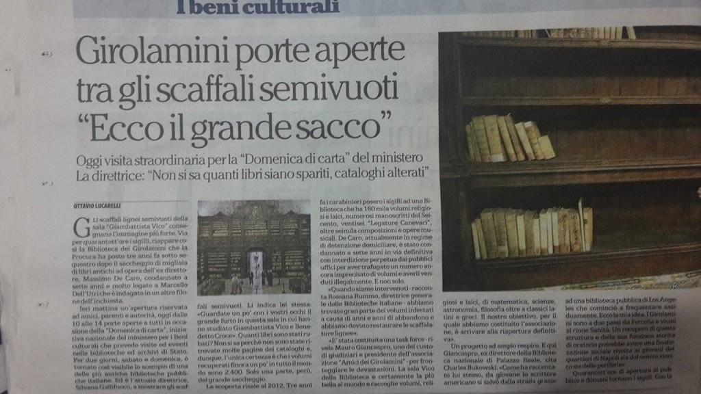 La Repubblica Articolo Girolamini1